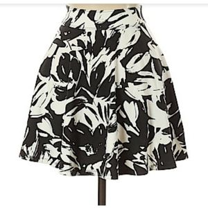 Abercrombie & Fitch Floral Skater Skirt Large
